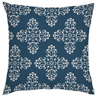 Moroccan Blue Marrakech Print Outdoor Cushion Cover Waterproof Garden Patio