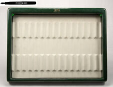 used Cross Tray / Tablett in Green-White for 15 Pens (2)