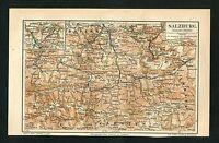 """Landkarte """"Salzburg"""" -  Von 1895    (J-BE2)"""