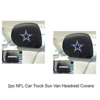 New FANMATS NFL Dallas Cowboys Mesh Head Rest Cover For Cars / Trucks