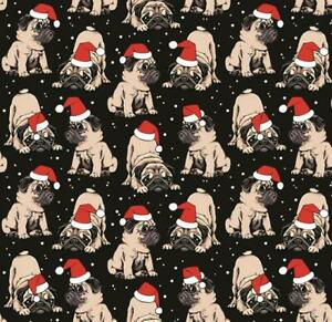 Christmas Pug Cute Dogs Wrapping Paper