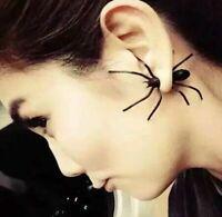 Paar Spinnen Ohrring OhrsteckerOhrklemme Ear Cuff Ohrschmuck Spinne Halloween