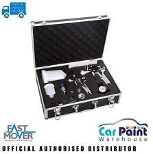 Fast Mover Twin Spray Gun Kit Gravity Fed FMT4005
