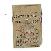 Imperial Garment Co. 22 Year Calendar 1935-1956 Made In Japan  PK30
