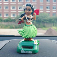 Solar Interior Toy Dancer Hawaii Girl Party Car Dashboard Toy Decor A-green