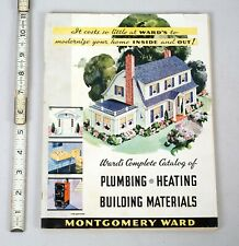 Vintage 1935 Home Improvement Catalog Montgomery Wards Plumbing Heating Stuff