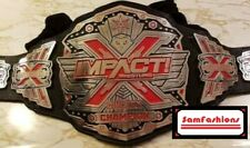 TNA Red Impact X Division Wrestling Championship Leather Belt