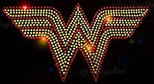 "WONDER WOMEN HOTFIX RHINSTONE HEAT TRANSFER   ""8.5 x 4.5  INCH """