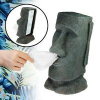 Distributeur de mouchoirs en forme de statue moai des îles de Pâques