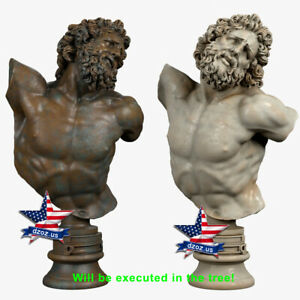 ❤️️Laocoon Bust❤️️WOOD CARVED SCULPTURE STATUE FIGURE ARTWORK PICTURE ICON
