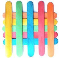 50 Large Wooden COLOURED Lollipop Lolly Sticks 150mm x 19mm