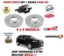 für Jeep Cherokee 4x4 2.0DT Multijet 2013- > Vorderbremse Scheibensatz +