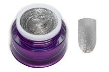 Premium Glam Glitter UV Gel Silber 5ml Farbgel Nageldesign Nailart 00652-66