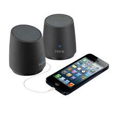 NEW IHOME iHM89 RECHARGEABLE MINI PORTABLE SPEAKER BLACK IPHONE IPOD MP3 iHM89BE