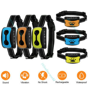 Waterproof Auto Anti Bark Dog Collar Stop Barking No-Shock Trainer Rechargeable
