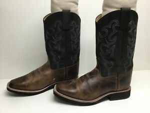 VTG YOUNG BOYS SMOKY MOUNTAIN SQUARE TOE COWBOY BROWN BOOTS SIZE 4 M