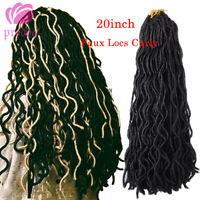 "20"" Afro Faux Locs Curly Dreadlocks Crochet Synthetic Braiding Hair Extensions"