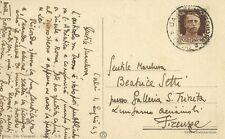 Calci Cartolina Autografo Pittore Giorgio Casini Gruppo Futurismo Pisa 1943