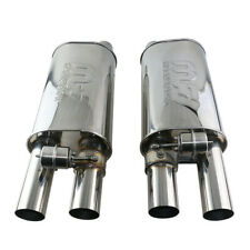 "2.5"" Adjst the sound muffler with exhaust valve 8.1*6 inch body double outlet"