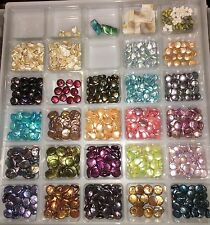 Giant lot of Pearl Beads assorted colors shapes and sizes