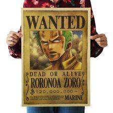 US Seller- Wanted DOA Roronoa Zoro Manga Anime retro poster apartment accessorie