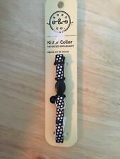 New listing Kitten breakaway collar adjusts to 8� black with white polka dots and Black bell