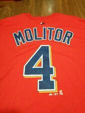 Minnesota Twins Molitor Red Majestic T-shirt Size Extra Large XL