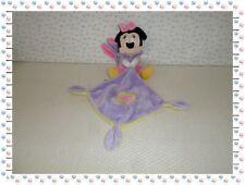 ✿ - Doudou Peluche Minnie Déguisée en Lapin Mauve Rose Mouchoir Disney Nicotoy