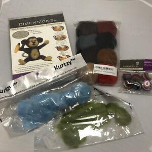 Dimensions Needle Felting Kit Make Your Own Monkey Kit 72-73801