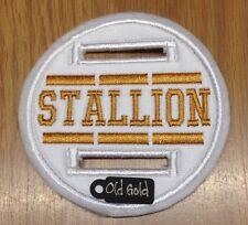 1 X Bianco 8cm Dressage BRIGLIA di Cavallo Stallone DISCO Badge Mostra