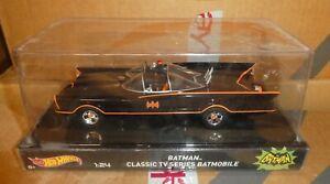 Dc Comics Batman Batmobile 1966 TV  Mattell Hot wheels New sealed  car 1/24