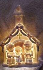 """Precious Moments azúcar Ciudad Iglesia Enesco luz de noche 1993 Cruz Navidad de 9"""""""
