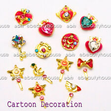 20 Pcs Sailor Moon Decoration With Stick 3D DIY Nail Art Rhinestone  #EG-234