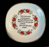 Weatherby Hanley Royal Falcon Ware England Plate Dish Inspirational Motto