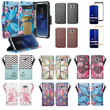 Samsung Galaxy S8, S8 Plus Magnetic Flip [Kickstand] Wallet Case Cover