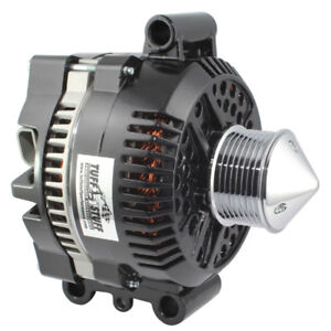 Tuff Stuff Alternator 7768CBULL; 225 Amp Black Powdercoat for Ford Trucks/SUVs