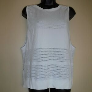 Lululemon Breeze By Muscle Tank Heathered White sz 8
