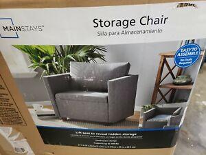 MAINSTAYS Storage Armchair, Lift seat to reveal hidden storage
