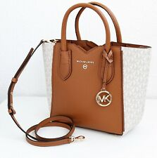 Michael Kors Bag Mea Messenger Vanilla Acorn Signature New