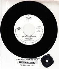 """BOZ SCAGGS  It All Went Down The Drain 7"""" 45 record NEW + juke box strip RARE!"""