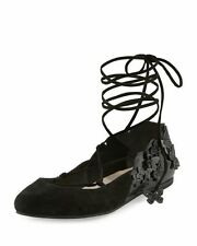 NIB Sophia Webster Black Suede 'Harmony' Flats Size 6 / 36 Authentic - $600