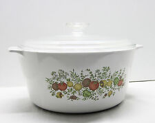 Corning Ware Spice of Life 5 Quart Range Topper W/ Glass Lid Rangetopper N-5-B