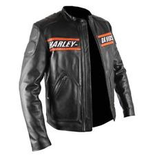 Bill Goldberg Harley Noir Moto Veste en cuir