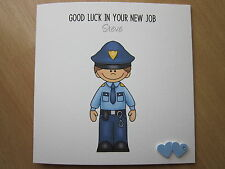 Personalised Handmade Leaving or New Job Card - Prison or Police Officer, etc