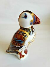 ROYAL CROWN DERBY 'PUFFIN' PAPERWEIGHT, GOLD STOPPER 22 caret gold decoration