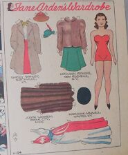 Jane Arden Sunday with Large Uncut Paper Doll from 11/24/1940 Full Size Page!