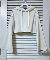 heather hoodie lace cross strap bell slev crop top M