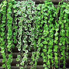 5x Artificial Fake Green Foliage Ivy Leaves Leaf Garland Plants Vine Home Decor