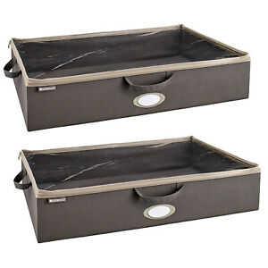 ClosetMaid Fabric Organizer Multiple Item Storage Zip Bag, Charcoal (2 Pack)