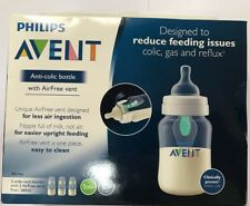 Philips Avent Anti-colic Baby Bottle with AirFree vent 9oz, 3pk